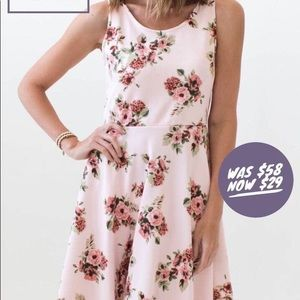 Pink floral dress with pockets